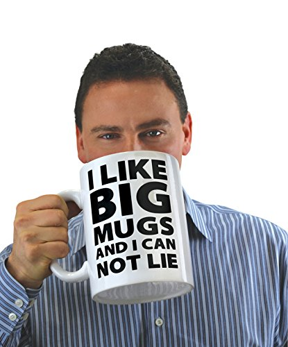 - BigMouth Inc. I Like Big Mugs... Gigantic Coffee Mug, Funny Huge Ceramic Gag Gift for Coffee, Tea, Hot Chocolate, Holds up to 64 oz.