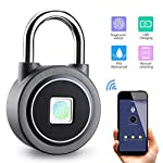 DYWLQ-Impronta-digitale-Lucchetto-Smart-BluetoothImpronta-digitalesblocco-dellapp-Blocco-impermeabile-ideale-per-palestra-porta-bagagli-valigia-zaino-bici-ufficio