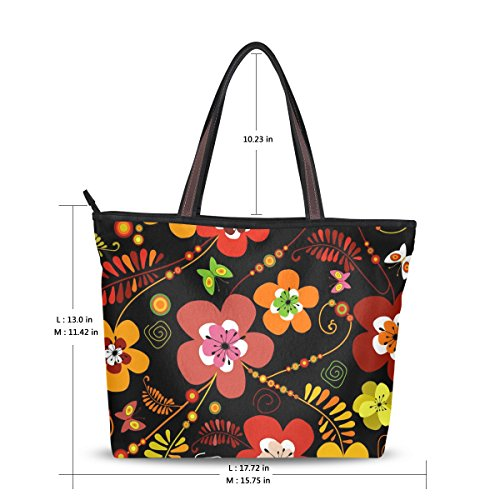 di Use4 Womens 02 Fashion Vintage Design Tote Floral Bags xIwqOUIAz
