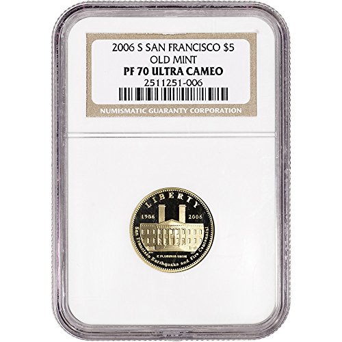 2006 S US Commemorative Gold Proof San Francisco Old Mint Non Edge-View Holder $5 PF70 NGC (San Francisco Old Mint Proof)