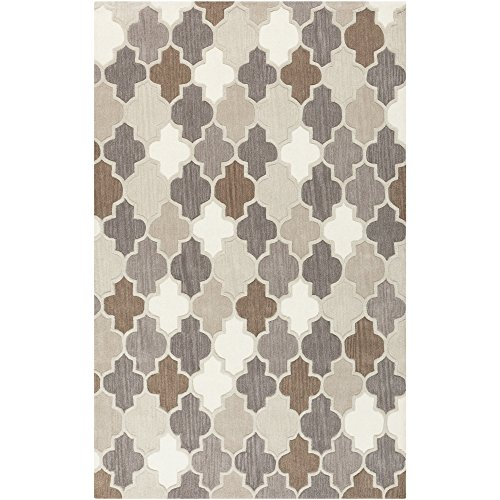 Surya Oasis OAS-1088 Transitional Hand Tufted 100% Wool Safari Tan 2' x 3' Geometric Accent Rug