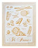 Abbiamo Tutto Breads of Italy Collection Kitchen Towel, Yellow