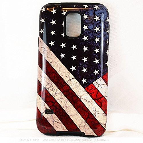Premium Artistic Flag Galaxy S5 TOUGH Case - Stars and Stripes - Artistic Galaxy S 5 Case By Da Vinci Case