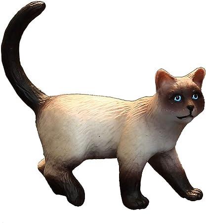LSXUE Juguetes de Animales de simulación sólida para niños, Animales de Granja, Gatos berman, Juguetes de plástico para Gatos: Amazon.es: Hogar