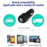 Upgraded-LanAu-Bluetooth-41-Car-Receiver-Adapter-with-35mm-Aux-CableEcho-Noise-Cancelling-Hands-Free-Car-Kit-for-Wireless-Talking-and-Music-Streaming-with-2-USB-Car-Charger-Black