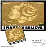 • Surface made of durable polyamide• Fade-resistant• Non-slip PVC backing• Machine washable at 30°C• A great idea for a presentIncluded in delivery:1 Door Mat Floor Mat: Crop Circles - I Want To Believe (24x16 inches)1 Mouse Pad: Crop Circles - I Wan...