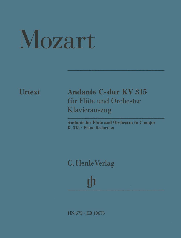Andante KV315 Do Maj. - Fl/Po (Allemand) Partition – 1 janvier 2009 Wolfgang Amadeus Mozart Henle B00006M1NG Musikalien