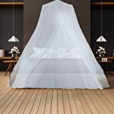 Mosquito Net - Keeps Away Insects & Flies - Perfect For Indoors And Outdoors, Playgrounds, Fits Most Size Beds, Cribs - Conical Design, Including Hanging Parts and a FREE Carry Bag To Carry Along