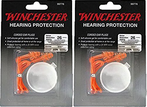 Winchester Hearing Protection Corded Ear Plugs - Orange (2 Hearing Protection)