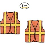 "Darice 16 by 20"" Dress Up Vest, Construction Worker (2 pack, Construction Worker)"
