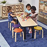 ECR4Kids Bentwood Stacking Stools for Kids, Durable