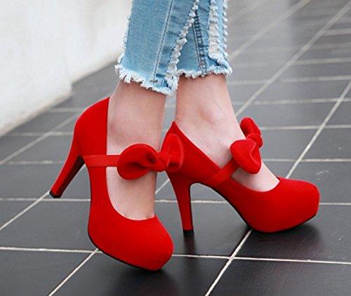 Zapatos 43 mujer Rojo de alto 40 alto terciopelo negro blanco de de azul gran tacón dorado tacón de Zapatos de rojo Zapatos Zapatos Primavera tamaño Zw5qSx6FS