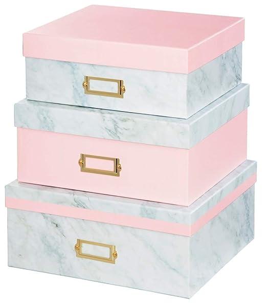 Hama Design - Juego de Cajas de almacenaje (3 Unidades, cartón ...