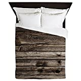 CafePress Rustic Barnwood Western Country Queen Duvet Cover, Printed Comforter Cover, Unique Bedding, Microfiber