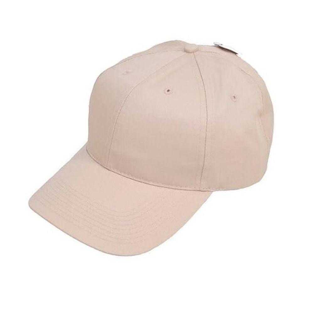 Mens baseball cap plain classic hat work leisure sports