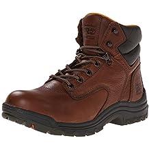 Timberland PRO 55398 Women's TiTAN Soft Toe 6-in Work Boots Coffee