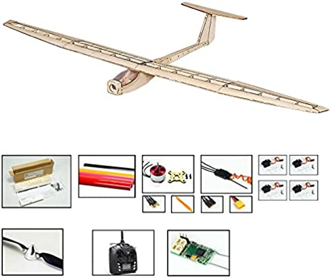 Balsa Wood Radio Remote Controlled Electric Glider Griffin Aeroplane Laser  Cut Kit Wingspan 1550mm Un-Assembled for Adults