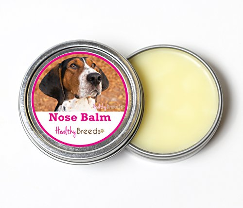 (Healthy Breeds Dog Nasal Butter Balm for Treeing Walker Coonhound - Over 200 Breeds - All Natural & Organic Oils Heal Dry Cracked & Chapped Skin - Unscented Formula - 2 oz Tin)