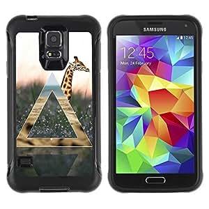 Hybrid Anti-Shock Defend Case for Samsung Galaxy S5 / Giraffe Geometry
