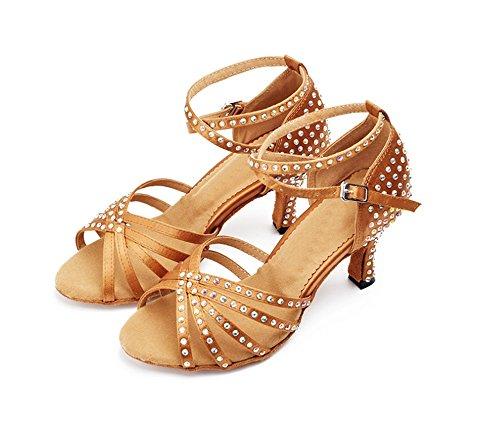 Baile Suave de Latino Zapatos 33 Suela de tamaño Baile Zapatos de con Baile Baile Negro tacón 6CM Root Color Latino Bronce Alto Zapatos de TMKOO Moderno Zapatos de CYwa0qAAx