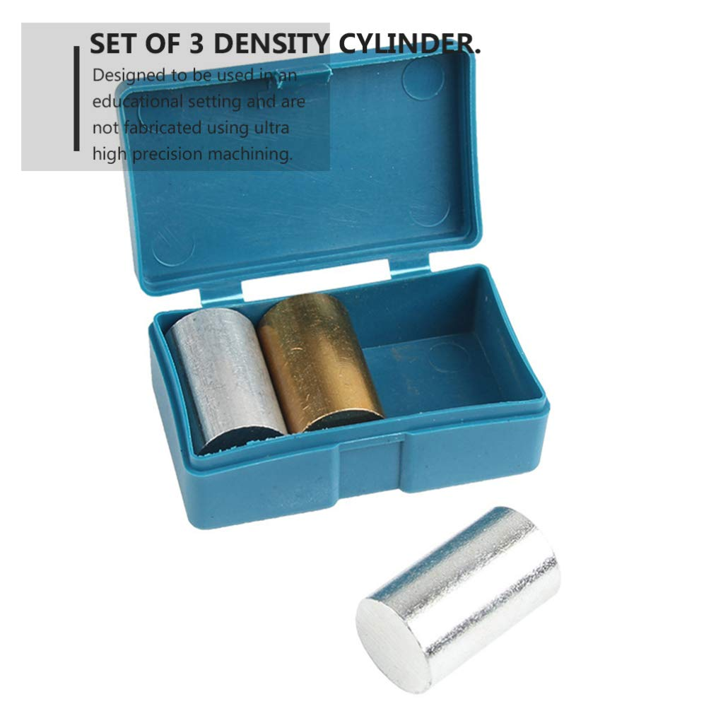ULTECHNOVO 3pcs Metal Cylinder Set Copper Iron for for Specific Heat Specific Gravity Density Experimentation