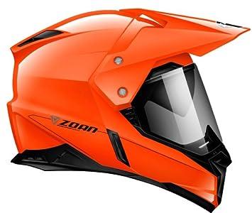 Zoan sincronía duo-sport Hawk negro naranja eléctrico lente nieve casco pequeño