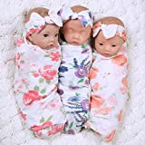 Paradise Galleries Sweet Swaddlers Reborn Trio, Triplets & Baby Doll Twins Set, 16 inch Newborn Preemie Babies Safety Tested 3+