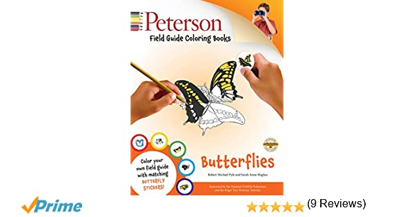 Peterson Field Guide Coloring Books Butterflies Color In Robert Michael Pyle Roger Tory Sarah Anne Hughes