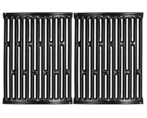 "VICOOL 15"" 7523 Porcelain Enameled Cooking Grill Grates for Weber Spirit E/S 200 & 210 (with Side Mounted Control Panel), Spirit 500, Genesis Silver A, 7521 7522 7534 Gas Grill, hyG752C"