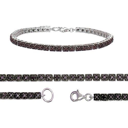 1 CT Black Diamond Bracelet Sterling Silver