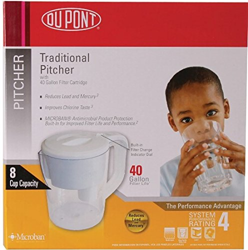 PT100XW DUPONT Traditional Filtered Water Pitcher