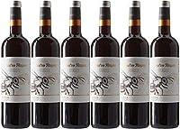 Cuatro Rayas Vino Tinto Roble Organic Tempranillo Ecológico D.O. Rueda - 6 Botellas de 750 ml (4.5 L)