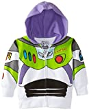 Disney Little Boys' Toddler Buzz Lightyear Hoody Toddler, White, 2T