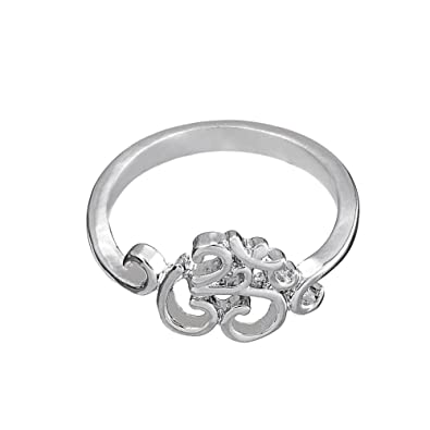 Skyrim Vintage OM Yoga Ring Meditation Namaste Mandala Rings for