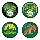 refrigerator badge - Seattle SuperSonics NBA Basketball round badges 1.75
