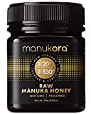 Manukora UMF 20+/MGO 830+ Raw Mānuka Honey (250g/8.8oz) Authentic Non-GMO New Zealand Honey, UMF & MGO Certified, Traceable from Hive to Hand