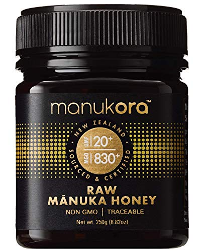 Manukora UMF 20+/MGO 830+ Raw Mānuka Honey (250g/8.8oz) Authentic Non-GMO New Zealand Honey, UMF & MGO Certified, Traceable from Hive to Hand ()