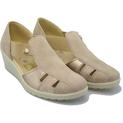 ENVAL Soft 3260111 sandali a mocassini zeppa blu donna Memory foam