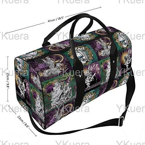 レターキルト(5)1 旅行バッグナイロンハンドバッグ大容量軽量多機能荷物ポーチフィットネスバッグユニセックス旅行ビジネス通勤旅行スーツケースポーチ収納バッグ