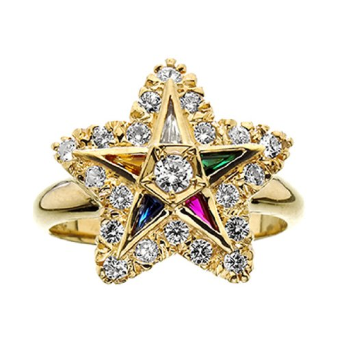 10k Gold Eastern Star - 4