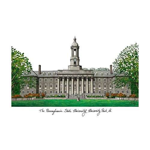 Campus Images PA994 Penn State University Lithographic Print