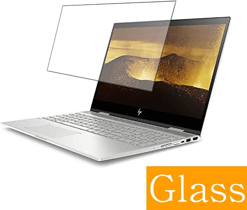 """Synvy Tempered Glass Screen Protector for HP Envy x360 15-cn000 2018 15.6"""" Visible Area Protective Screen Film Protectors 9H Anti-Scratch Bubble Free"""