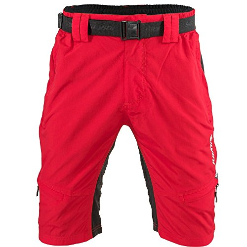 SILVINI Men's Mountain Bike Shorts Rango in Red-Black for Cycling and All Other Outdoor Activities - Size XXL