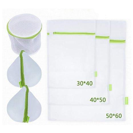 Red para lavadora Cesto para Juego con cremallera bolsas para ropa sujetador s, ropa interior, calcetines, ropa de bebé (6 unidades), color verde y ...