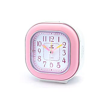 Despertador JXLBB Powder Square Alarm Clock Ultra Mute ...