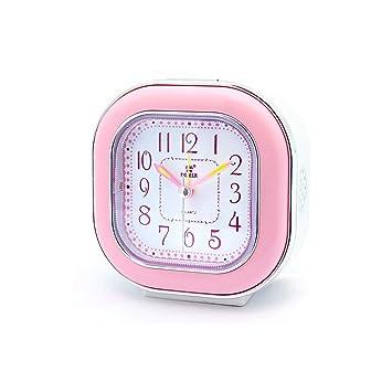 Despertador JXLBB Powder Square Alarm Clock Ultra Mute ...
