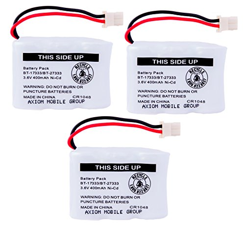 Axiom 3 Pack Ni Cd Rechargeable Battery For Vtech Bt 17333 Bt 27333 Cs2111