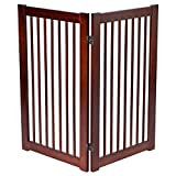 "Giantex Configurable Folding Free Standing Panel Wood Pet Dog Safety Fence w/Gate (36"" 2 Panel) For Sale"