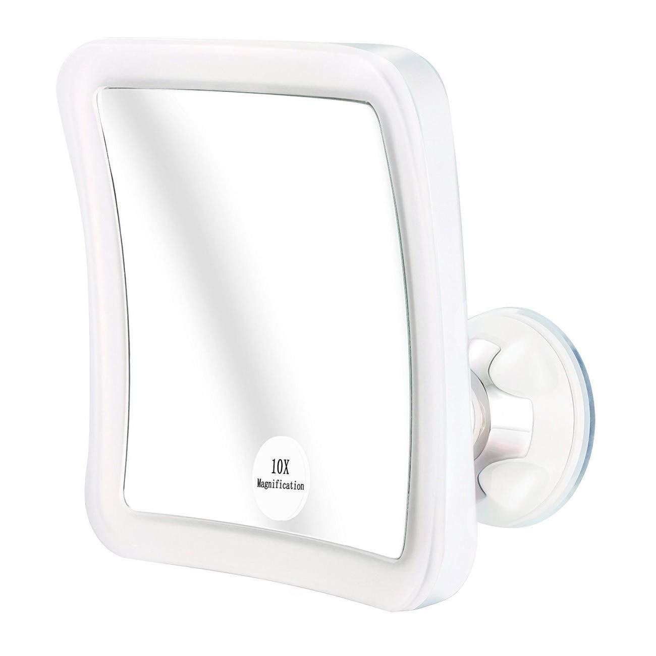 Espejo Maquillaje Cosmético con Aumento de 10x con Giro de 360 ° y Soporte  de Ventosa f1d69e03c2f8