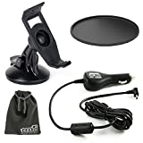 EEEKit Rotaty Car Windshield Holder Mount Stabilzer,Car Vehicle Charger Power Cable,Suction Cup Pad for Garmin Nuvi 200 200W 205 205W 255 255W 260 265W US